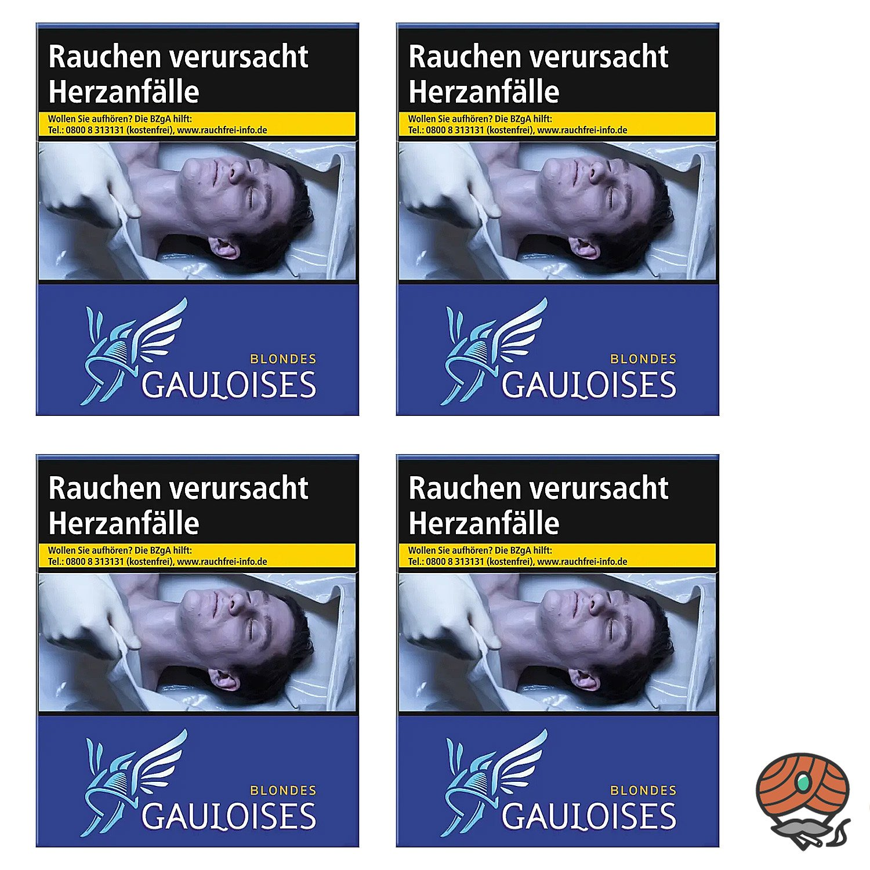 1 Stange Gauloises Blondes Blau Zigaretten 4x38 Stück