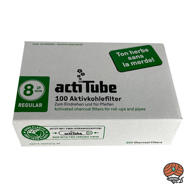 ActiTube Aktivkohlefilter Regular, 8 mm à 100 Stück