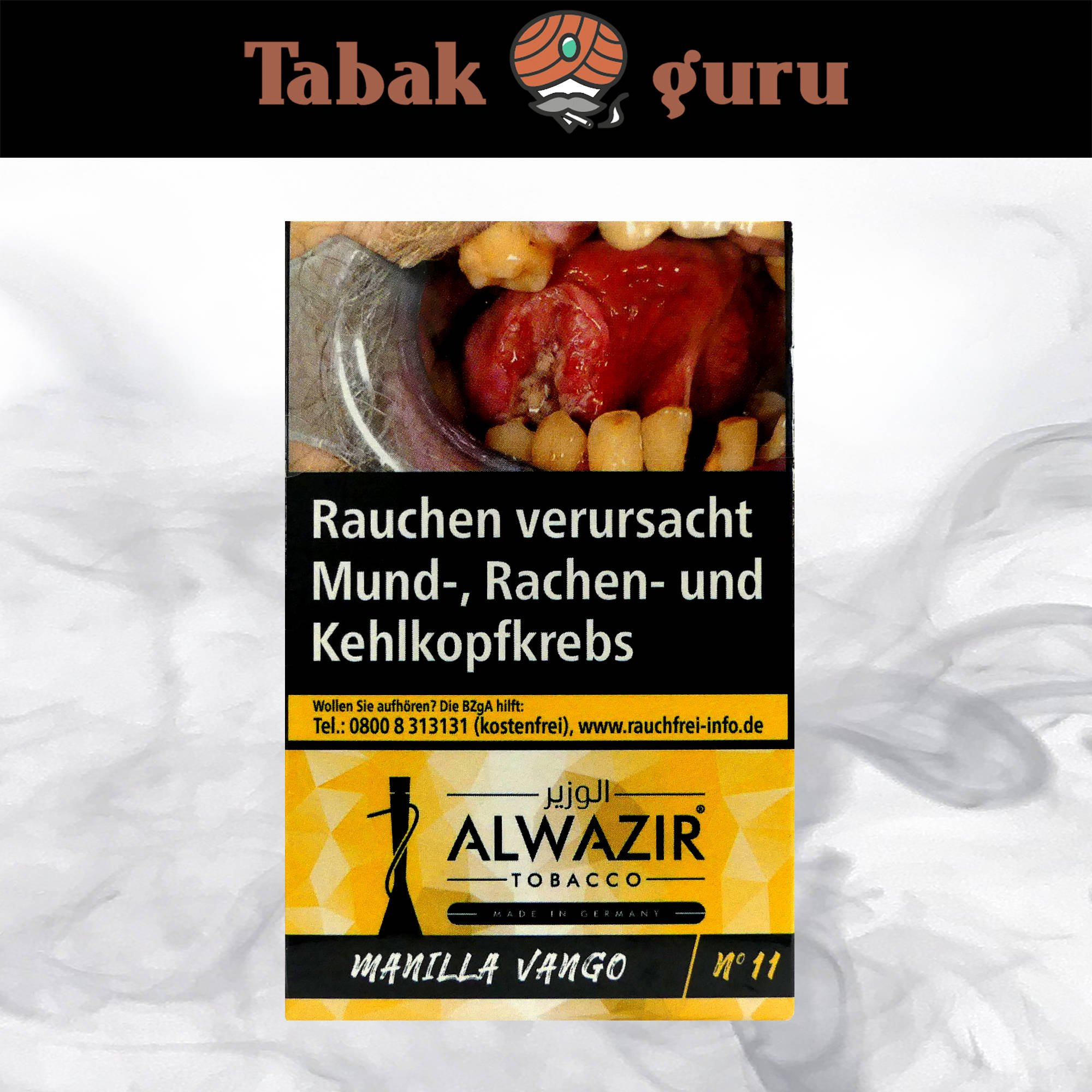 Alwazir Shisha Tabak - No. 11 - MANILLA VANGO 50g