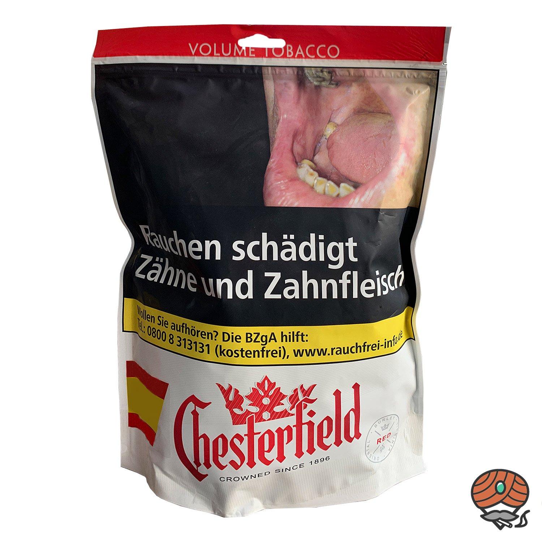 Chesterfield Red / Rot Volumentabak 125g Beutel