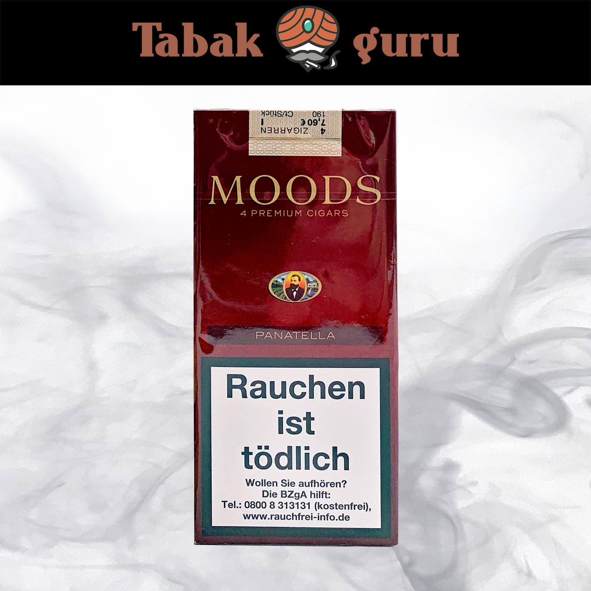 Dannemann Moods Panatella Tubos 4 Stück