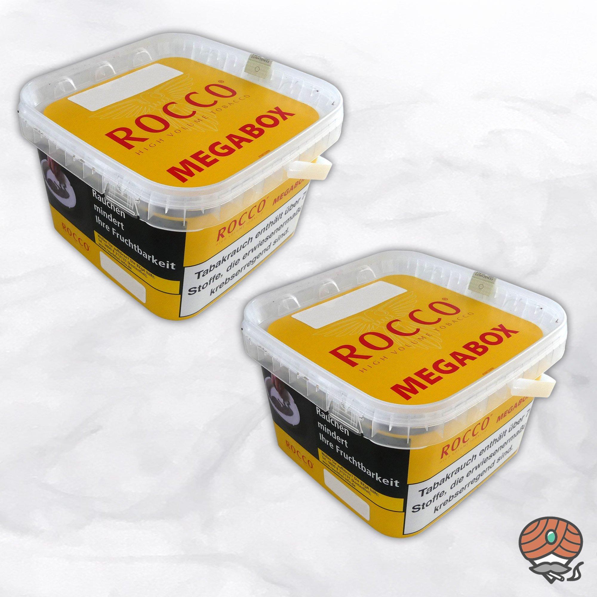2 x ROCCO Tabak / Volumentabak Gelb Megabox 210 g