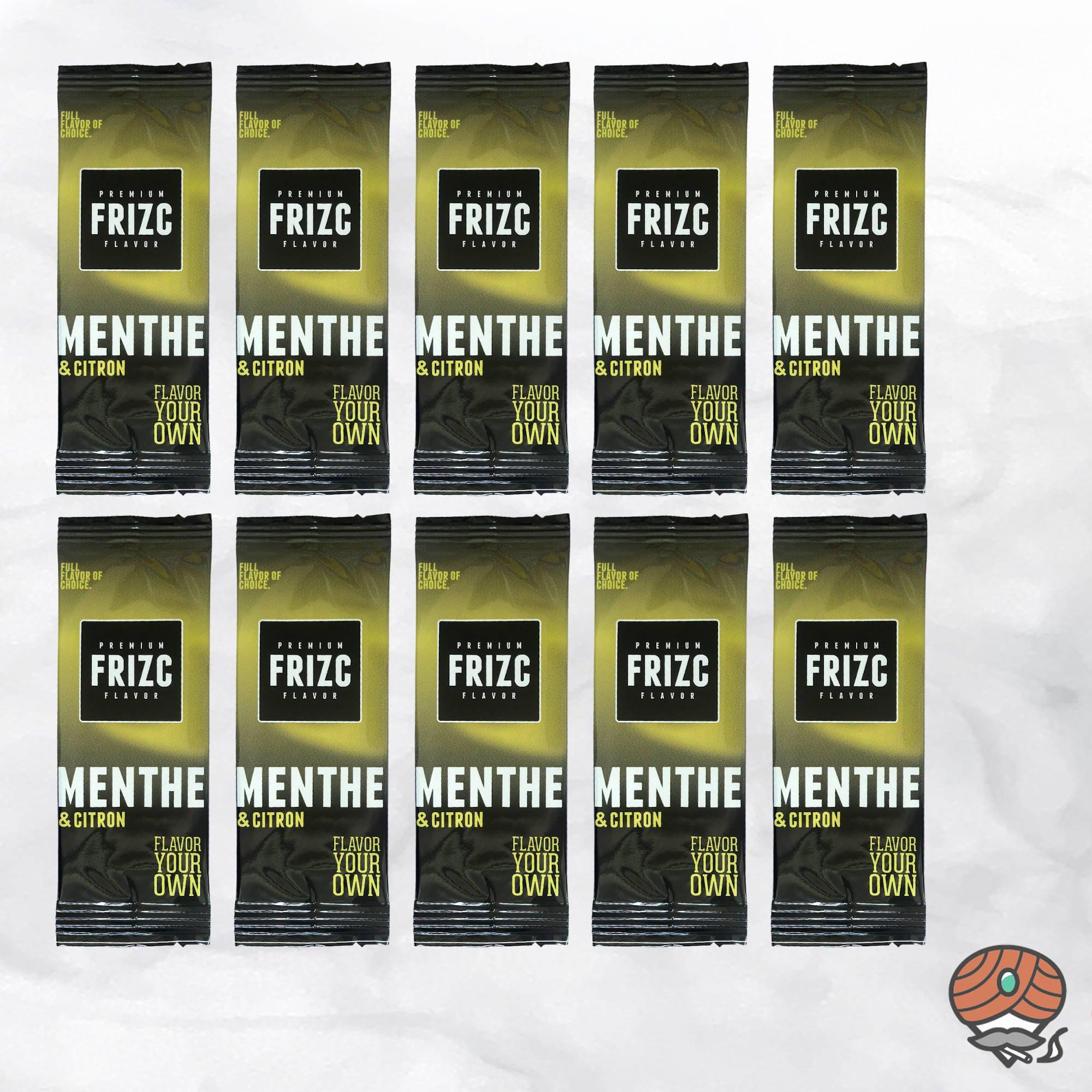 10 x Aromakarte Frizc Menthe & Citron (Menthol & Zitrone) - Premium Flavor Card