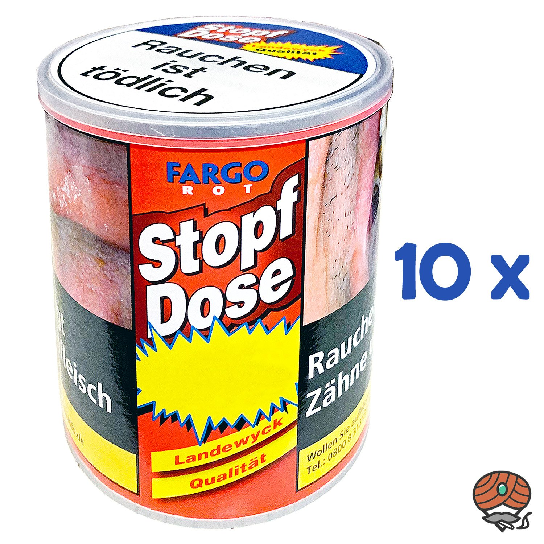 10x Fargo Rot Stopf-Dose Feinschnitt-Tabak à 95 g