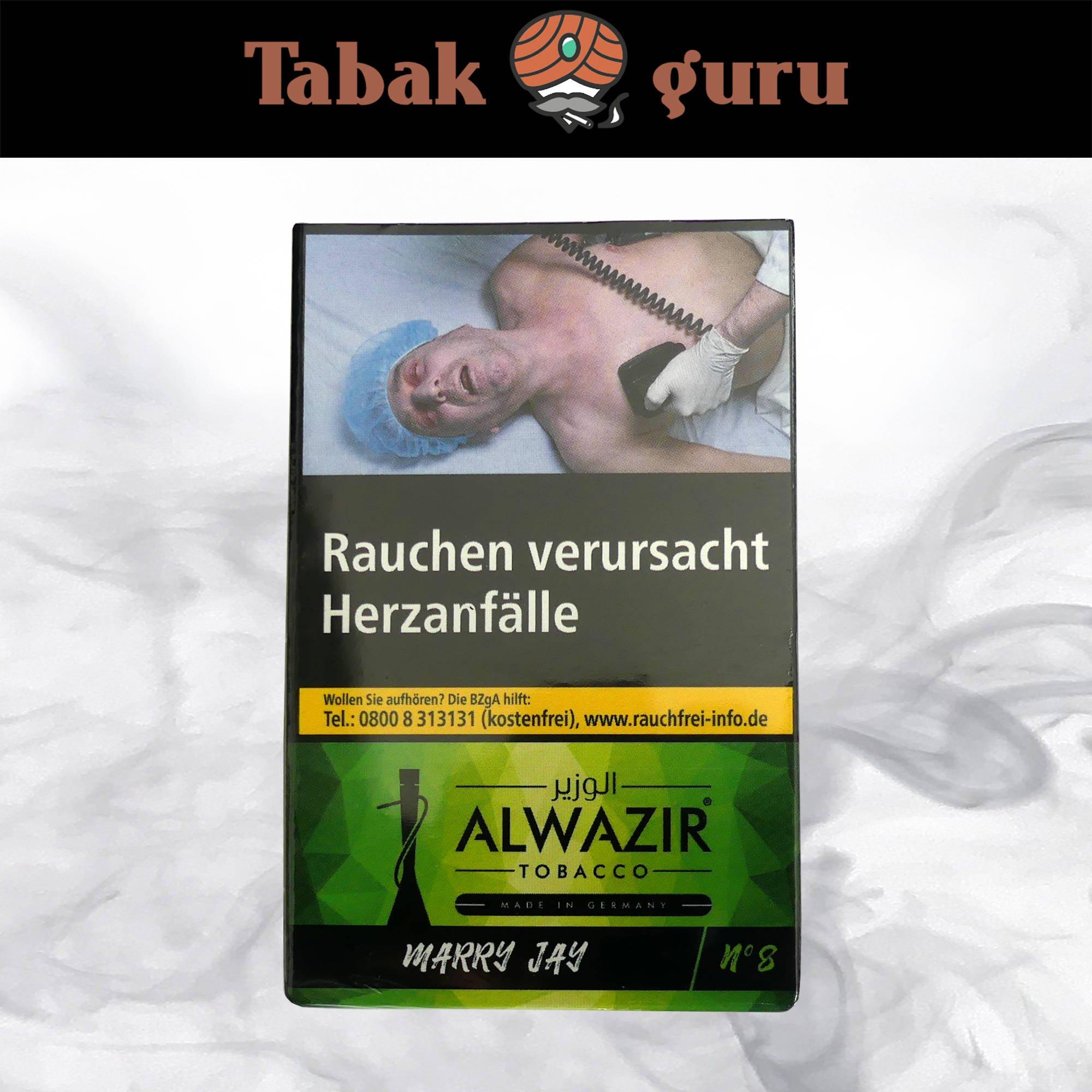Alwazir Shisha Tabak - No. 8 - MARRY JAY 50g