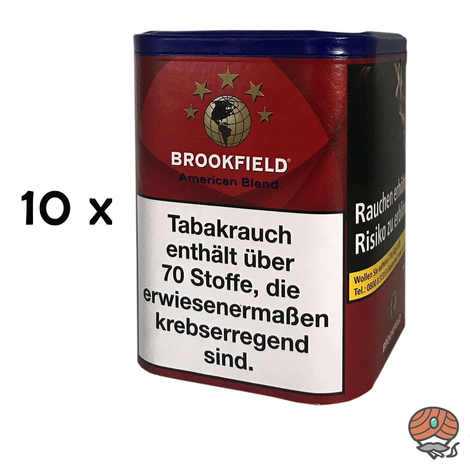 10x Brookfield American Blend Zigarettentabak/Feinschnittabak à 120g