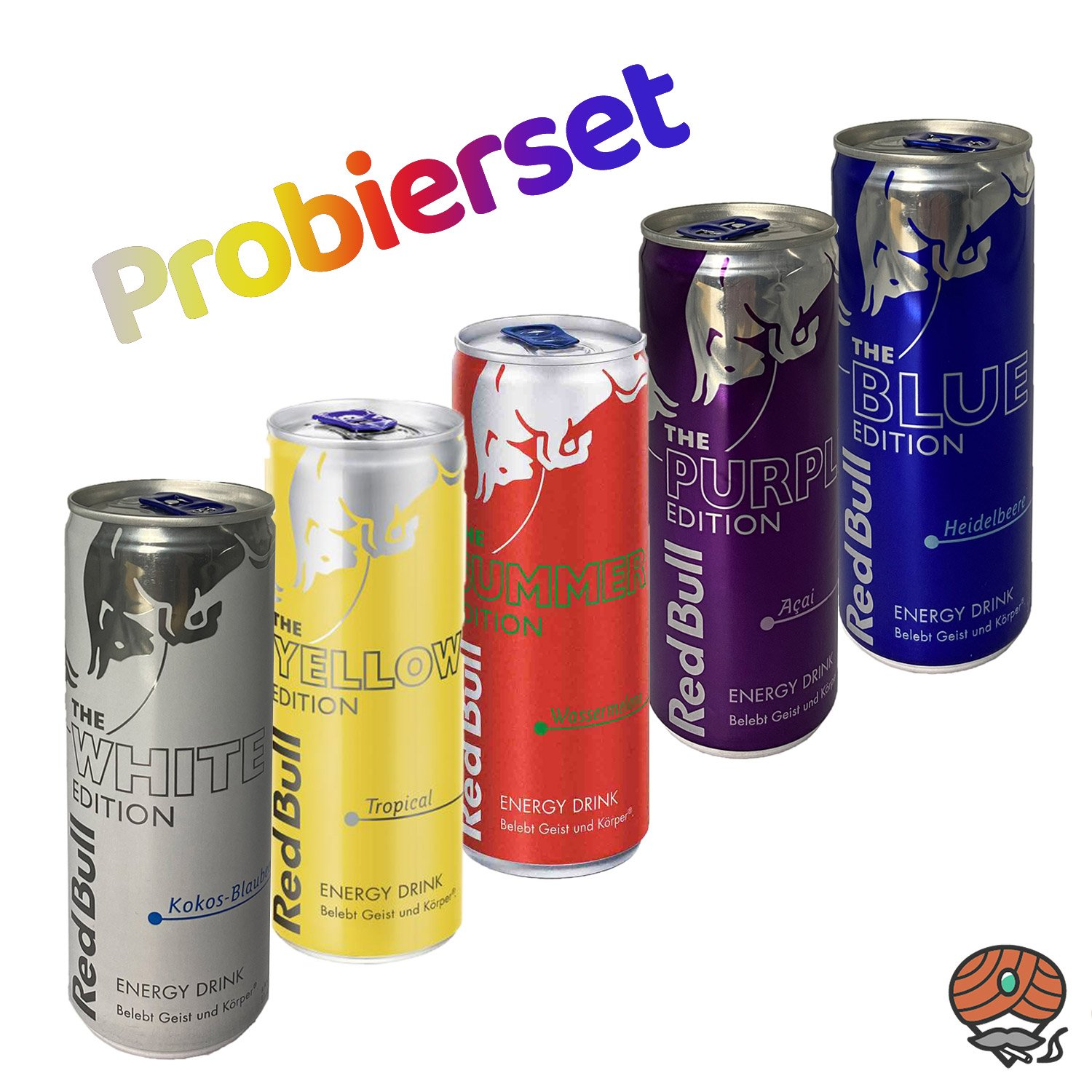 5 x Red Bull Energy Drink 250 ml Dose PROBIERSET