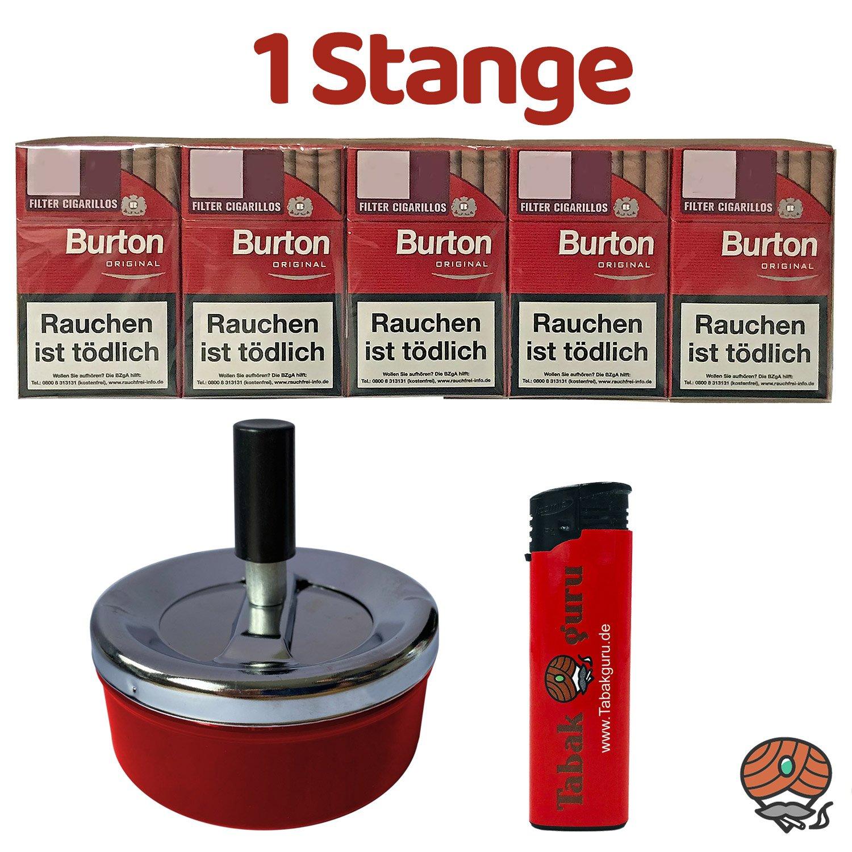 1 Stange Burton Original Filter Zigarillos (17 Stück / Schachtel) + Zubehör