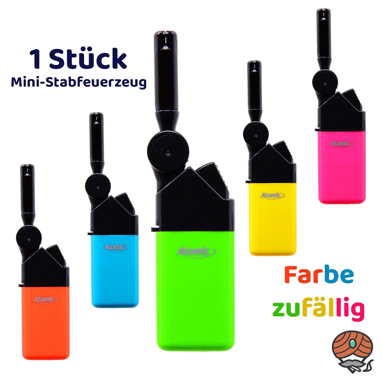 Atomic Mini Stabfeuerzeug Knick neon, Farbe zufällig