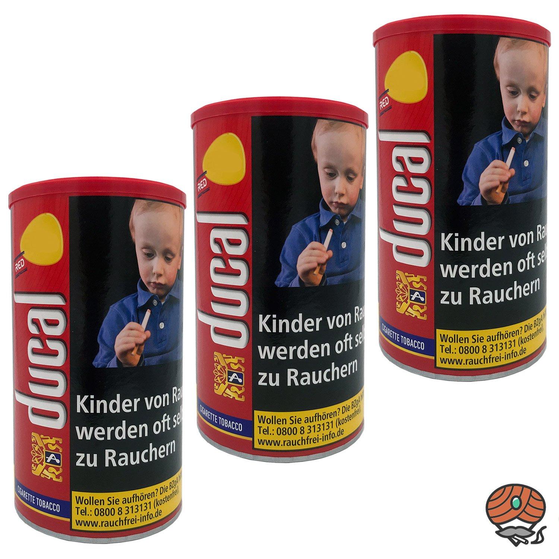 3 x Ducal Red / Rot Feinschnitt-Tabak / Zigarettentabak Dose à 200 g
