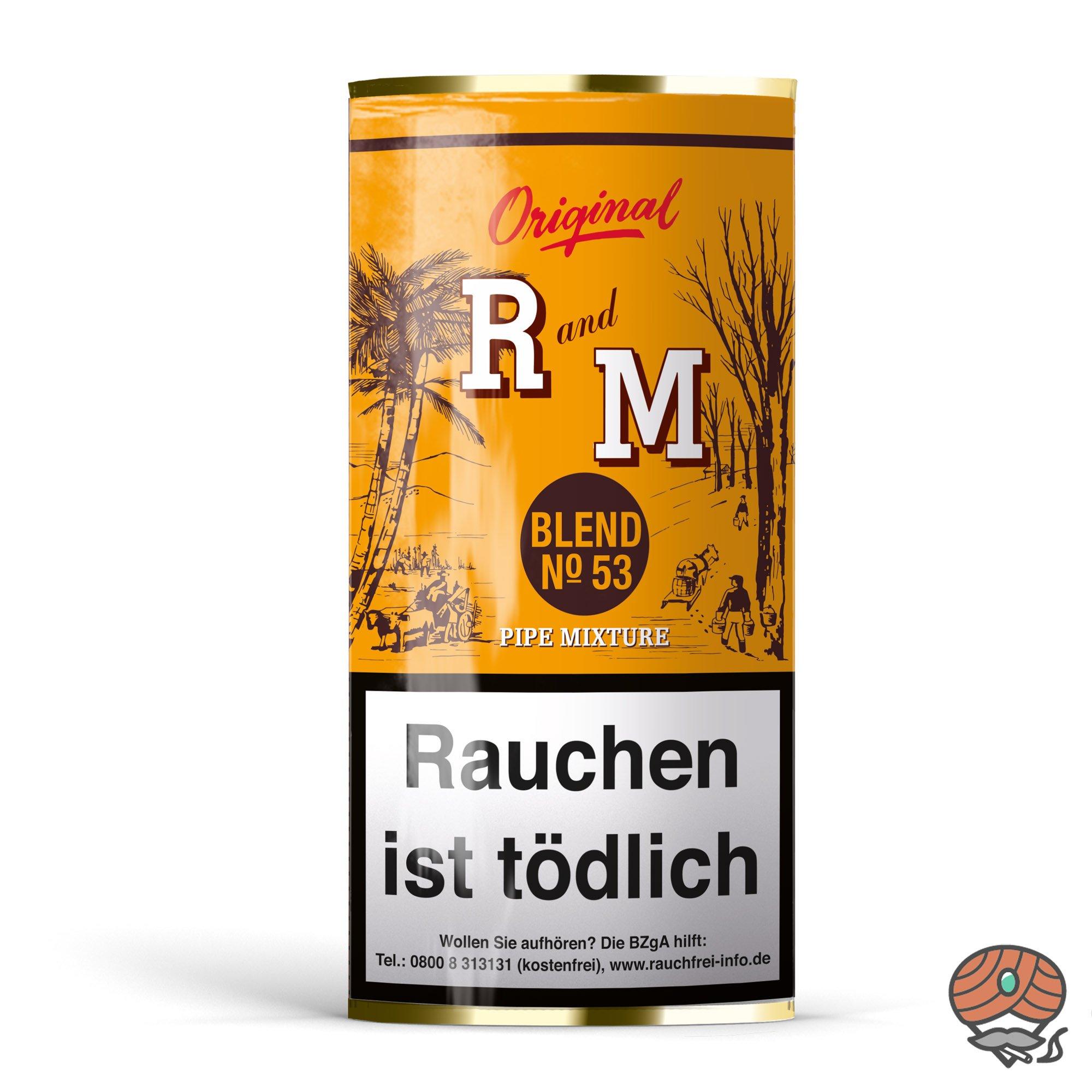 R und M (Rum and Maple) Original Blend No. 53 Pfeifentabak 50g Pouch