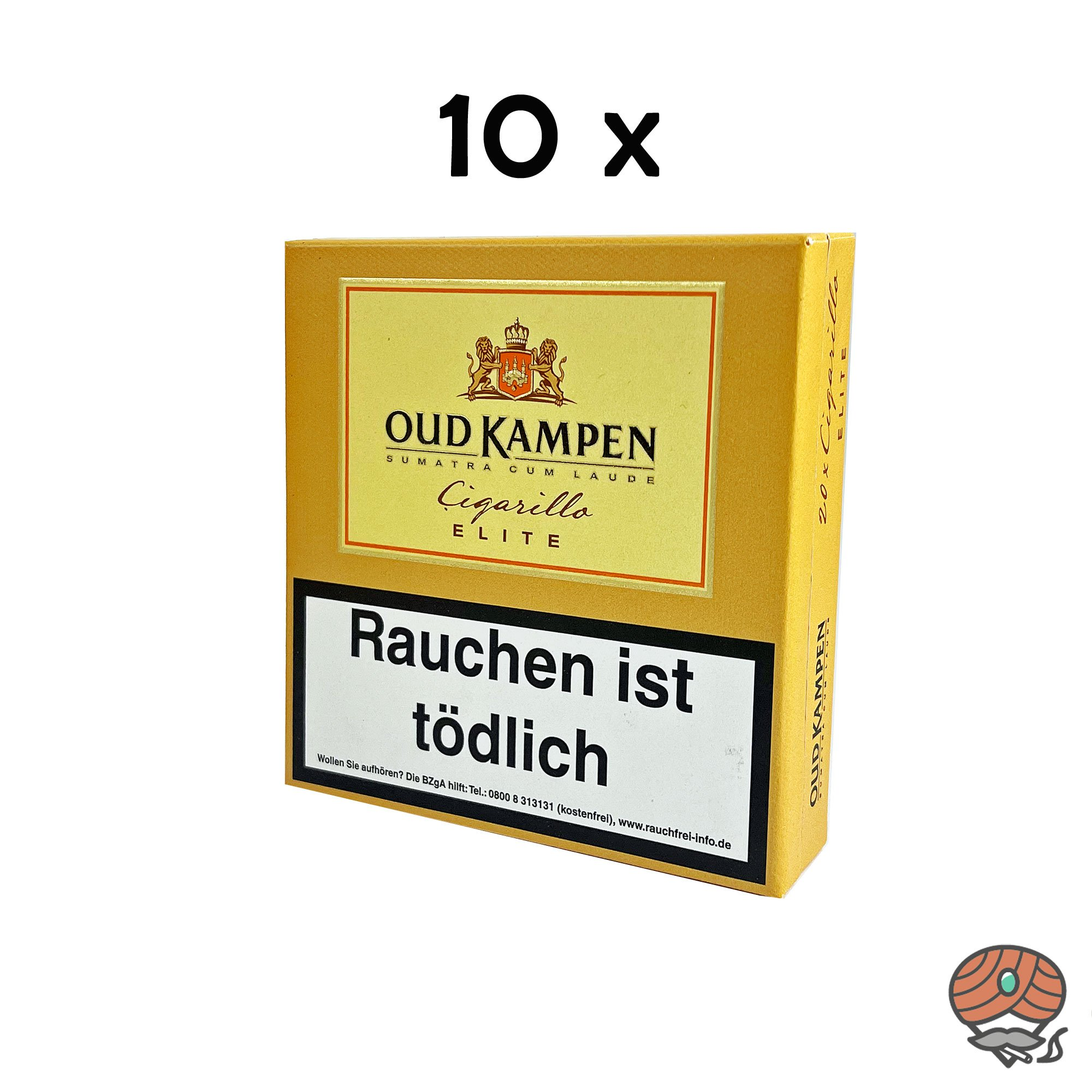 10x Oud Kampen Elite Zigarillos Sumatra Cum Laude 100% Tabak