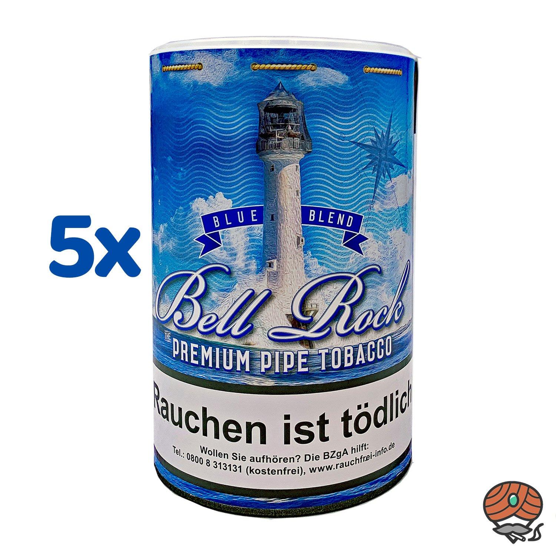 5 x Bell Rock Blue Blend Pfeifentabak 160 g Dose