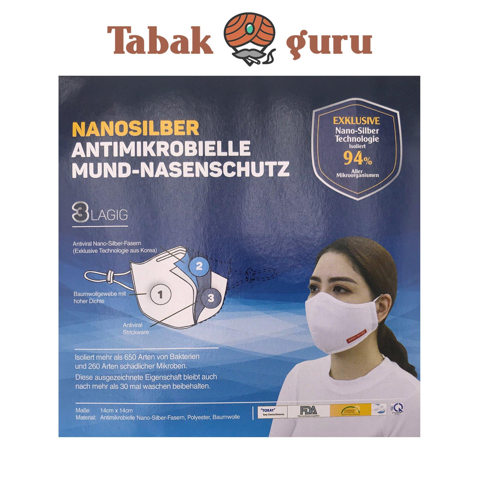 Mundschutz Nasenschutz waschbar + Desinfektionsspray 100ml