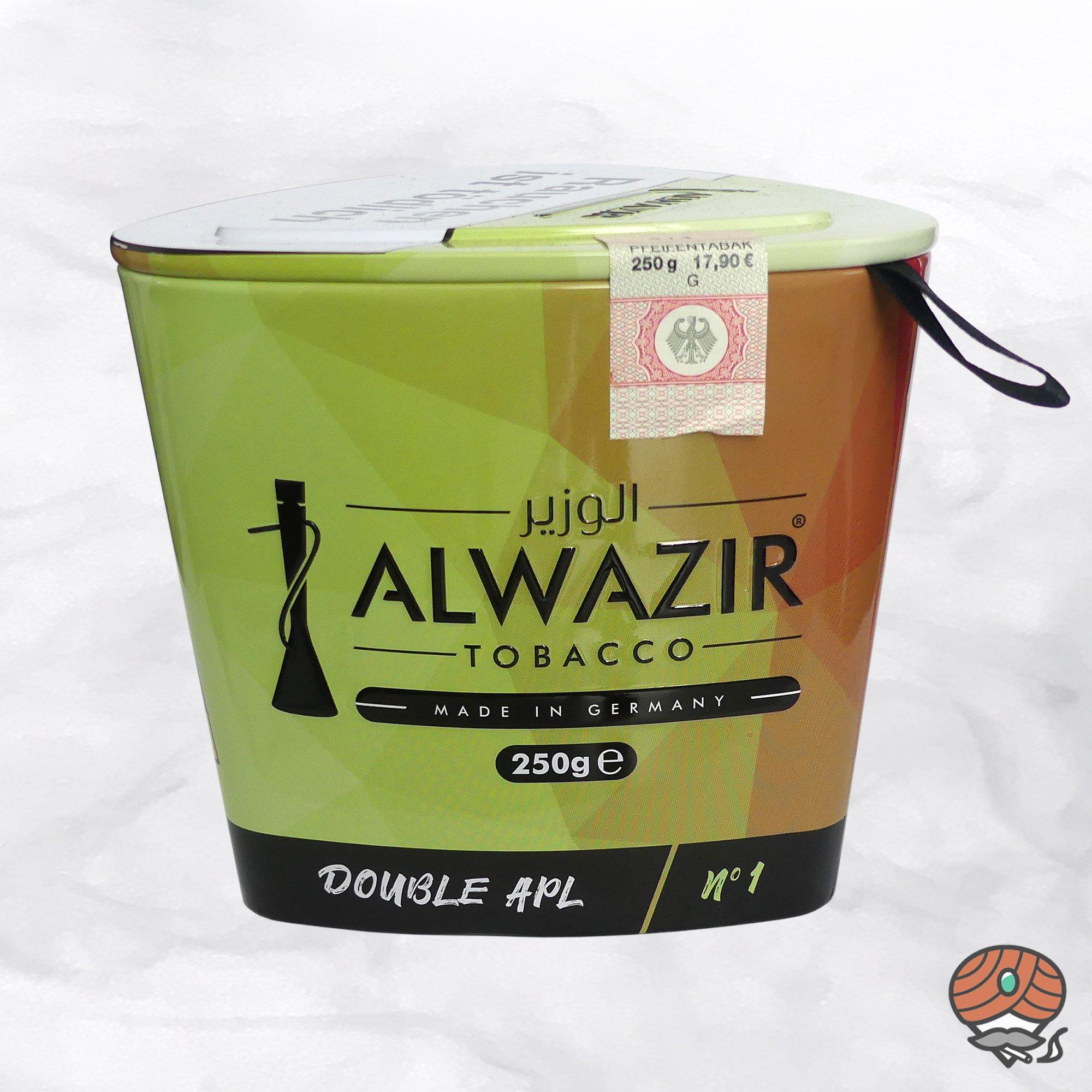 Alwazir Shisha Tabak - No. 1 - DOUBLE APL 250g