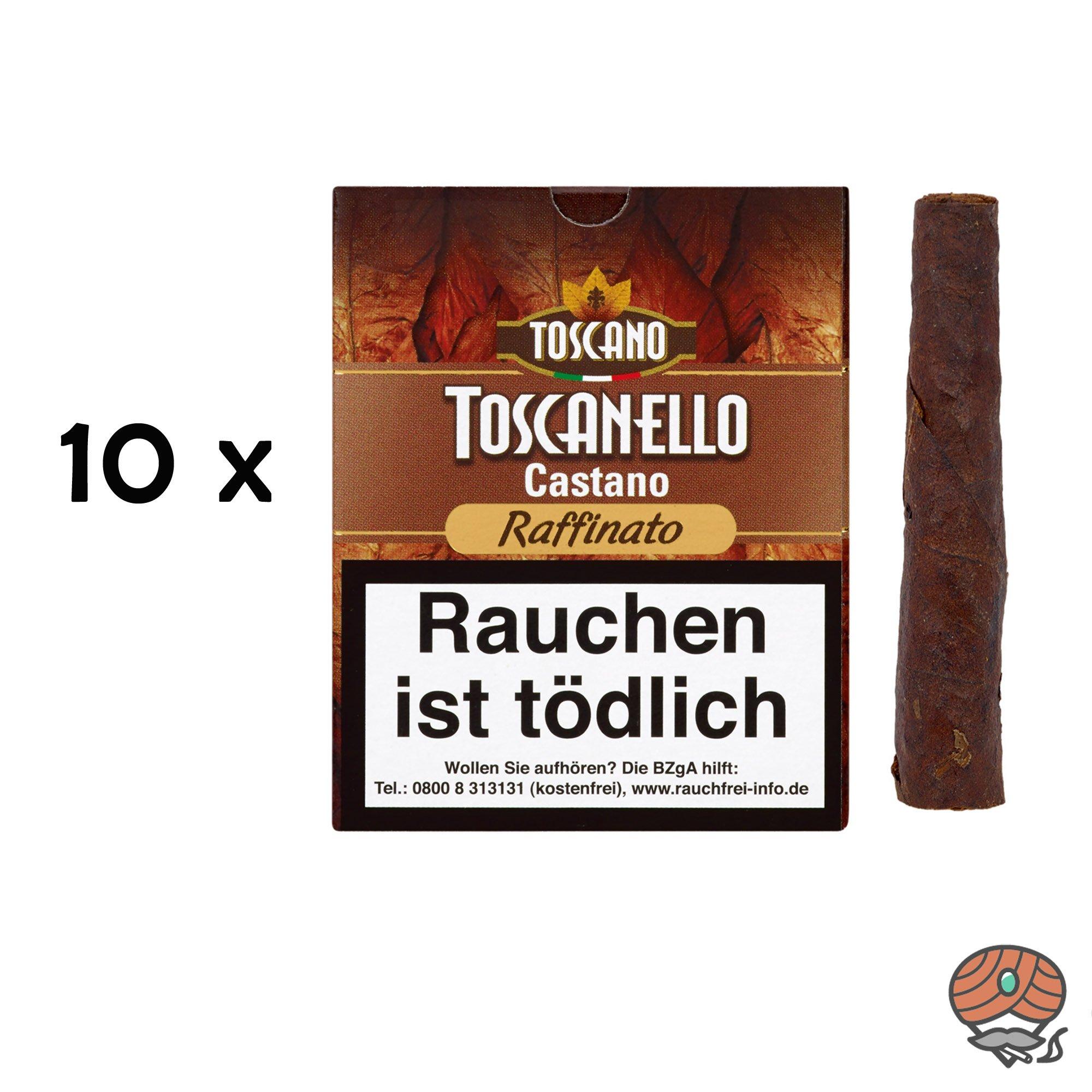 10 x Toscanello Castano Raffinato Zigarren (geröstete Haselnuss) à 5 Zigarren