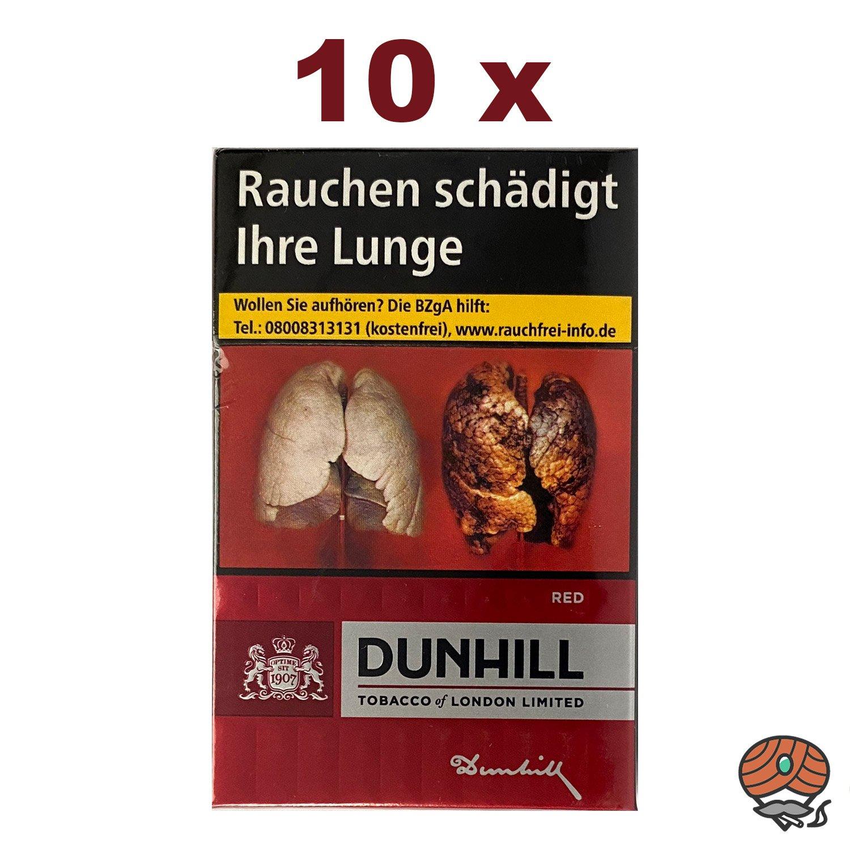 1 Stange Dunhill RED Zigaretten, 10 x 20 Stück