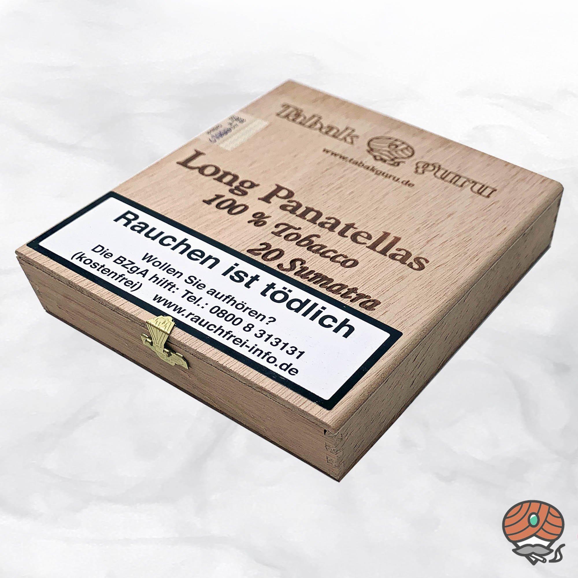 20 Tabakguru Long Panatellas Sumatra Zigarren 100 % Tabak