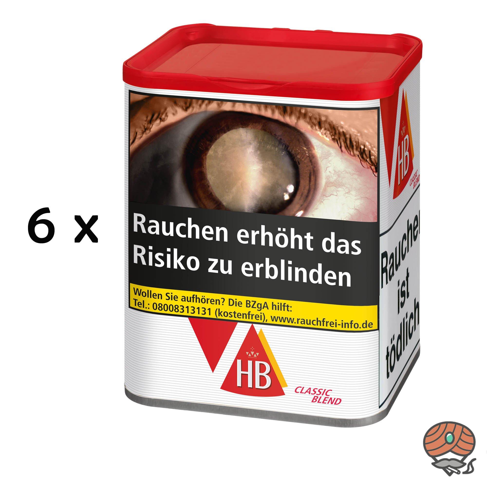 6 x HB Quality Blend / Classic Blend Zigarettentabak 85 g Dose