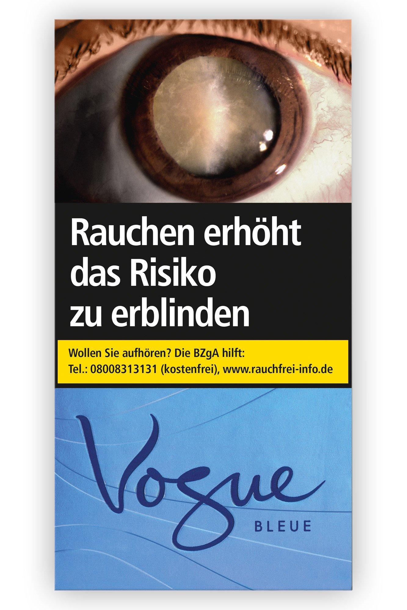 Vogue Bleue Zigaretten Inhalt  á 20 Stück