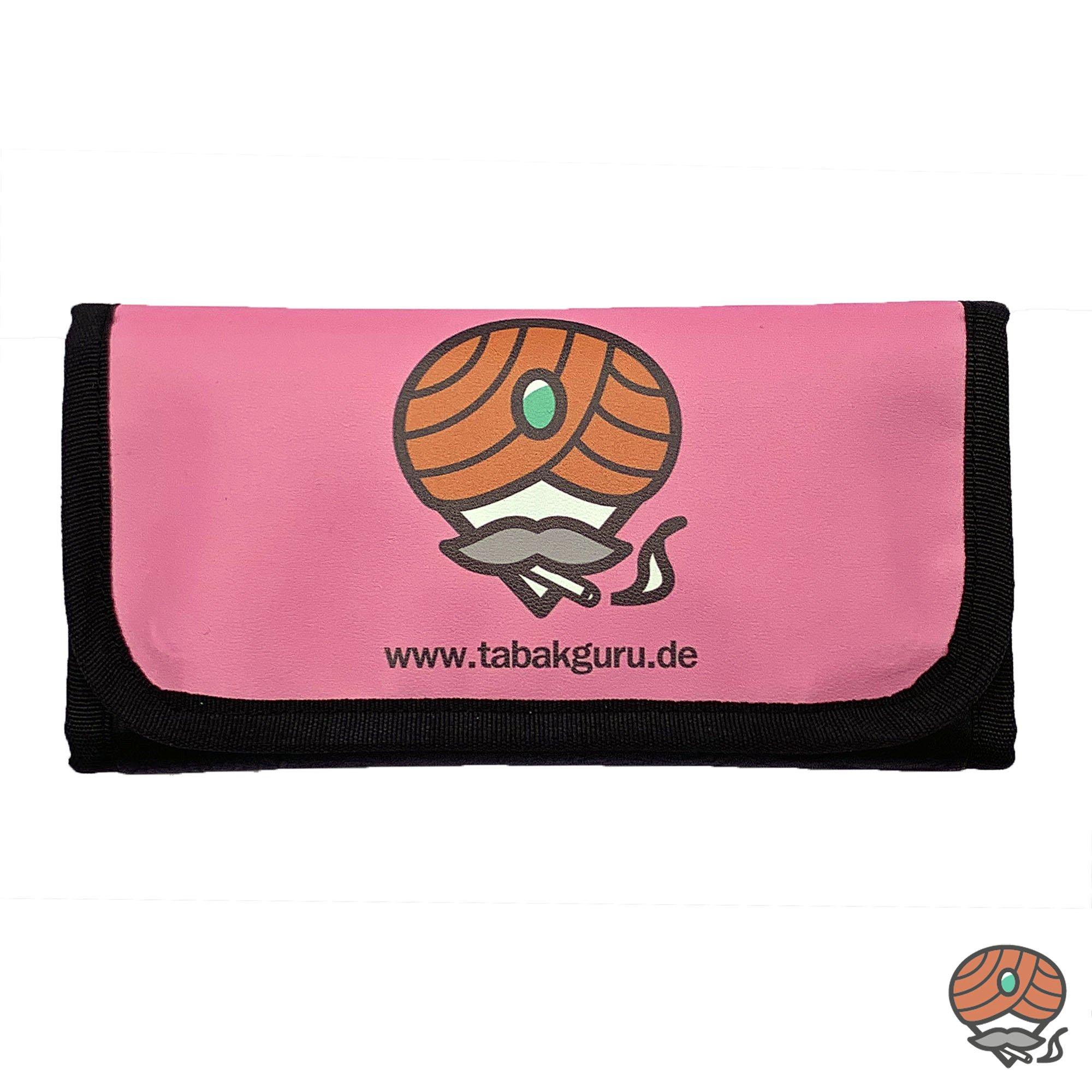 Tabakguru Tabak Beutel / Tasche für Drehtabak und Zubehör Pink / Schwarz