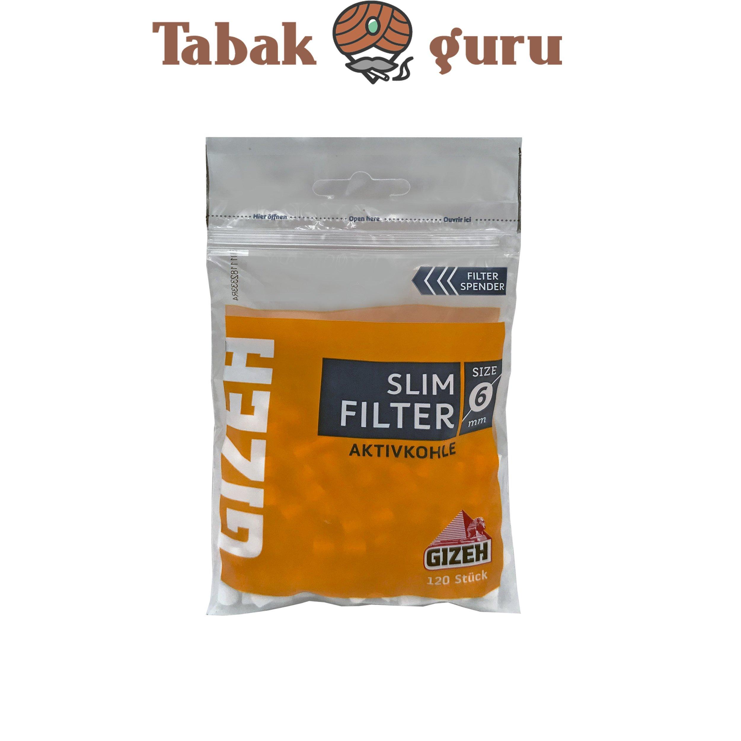 Gizeh Slim Filter 1 Päckchen a 120 Aktivkohle Filter