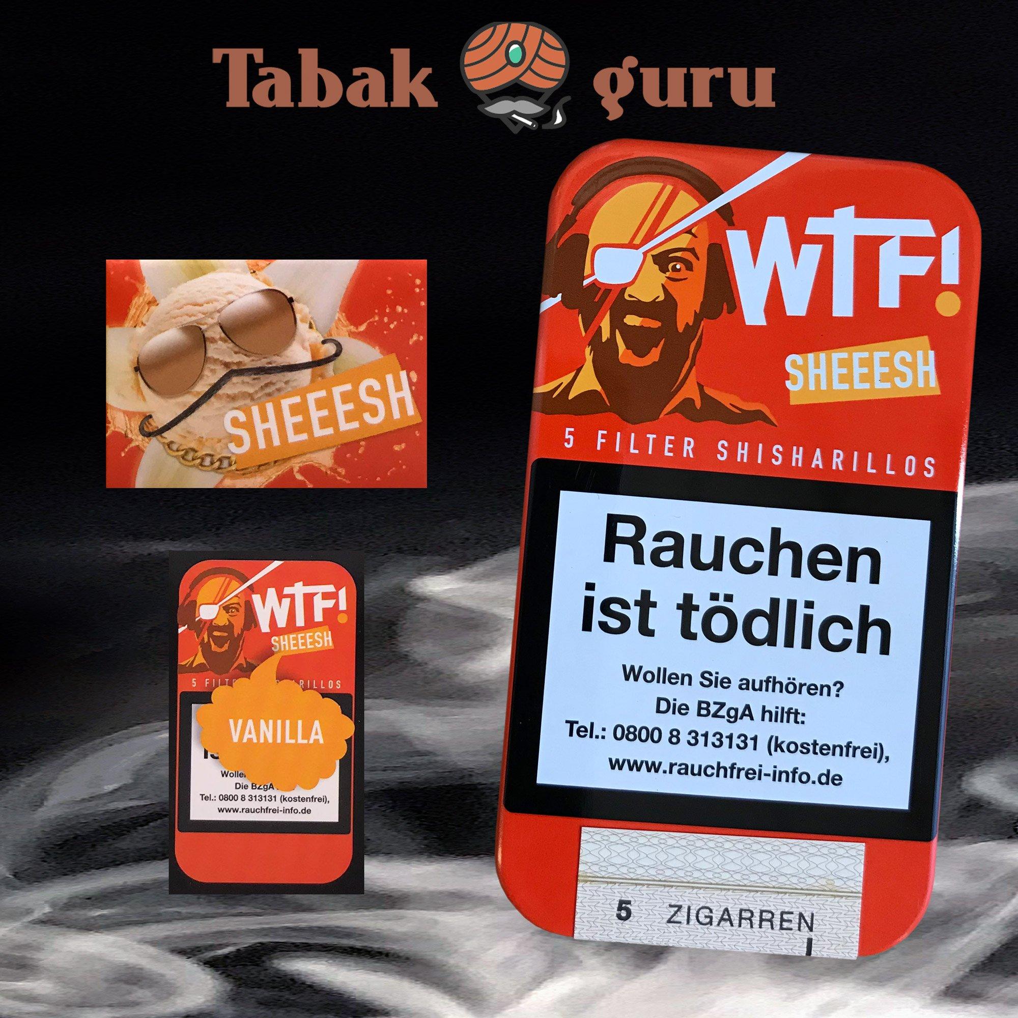 5 Filter WTF! Shisharillos Geschmacksrichtung SHEEESH (Vanille)