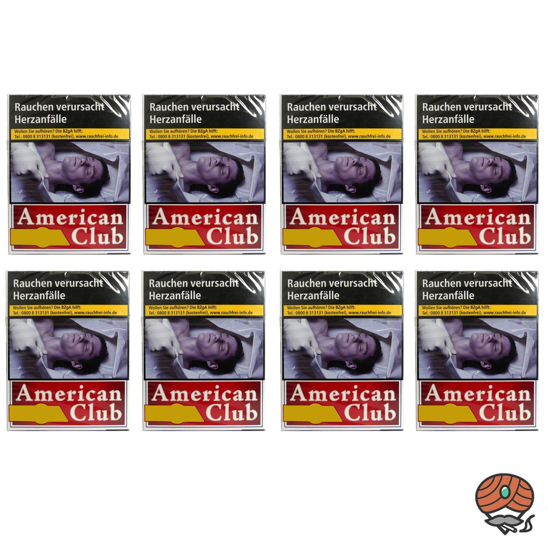 1 Stange American Club Filterzigaretten BIG BOX 8x24 Stück