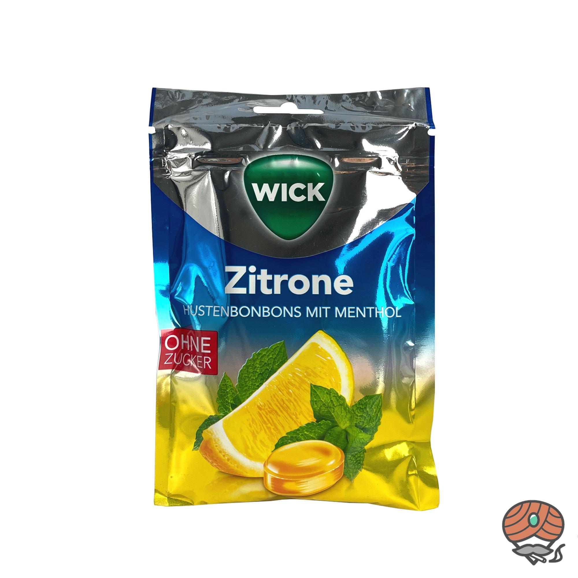 Wick Hustenbobons Zitrone und Menthol ohne Zucker 72g