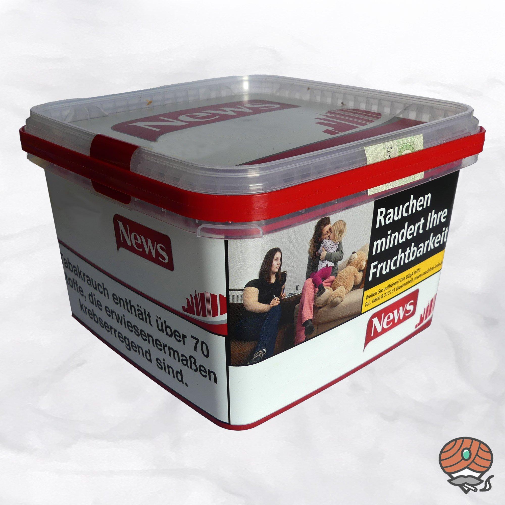 News Red / Rot Volumentabak / Stopftabak 215 g Eimer