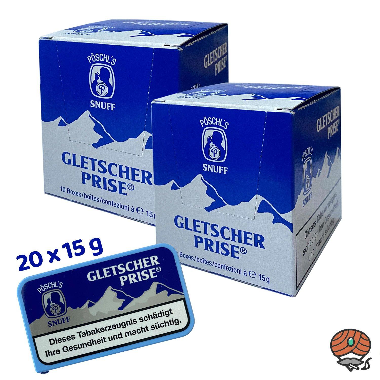 20 x Gletscherprise Snuff Schnupftabak 15g Dose