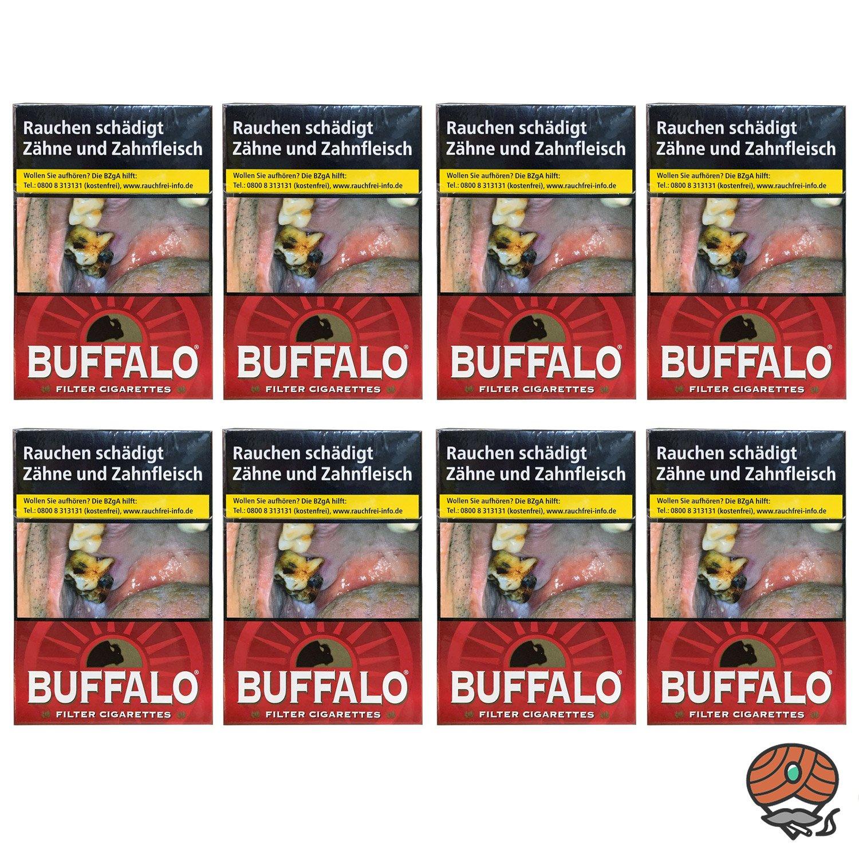 1 Stange Buffalo Red Filterzigaretten Maxi Pack 8x28 Stück