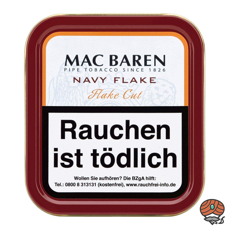 Mac Baren Navy Flake Pfeifentabak 50g Dose