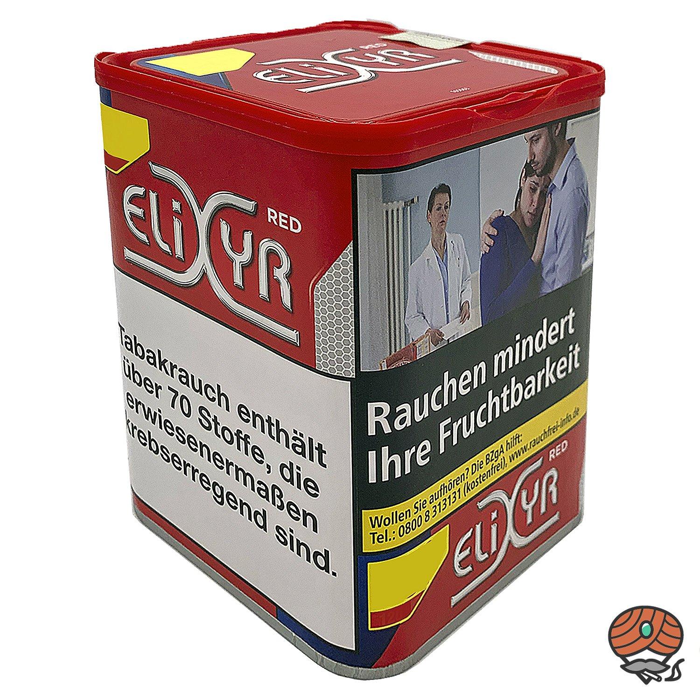 Elixyr Red / Rot Tabak / Feinschnitt-Tabak / Zigarettentabak 115g Dose