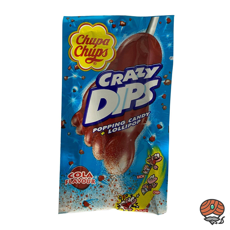 Chupa Chups Crazy Dips Cola Geschmack, Popping Candy + Lollipop 14 g