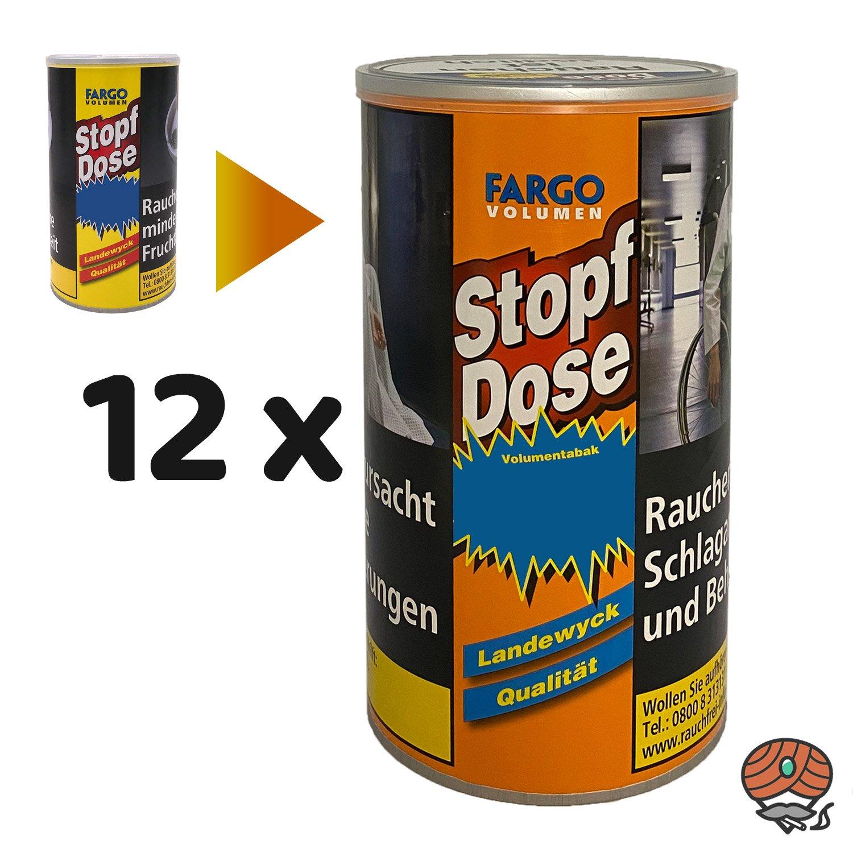 12 x Fargo VOLUMEN Stopf-Dose 100g Volumentabak (ehem. GELB)