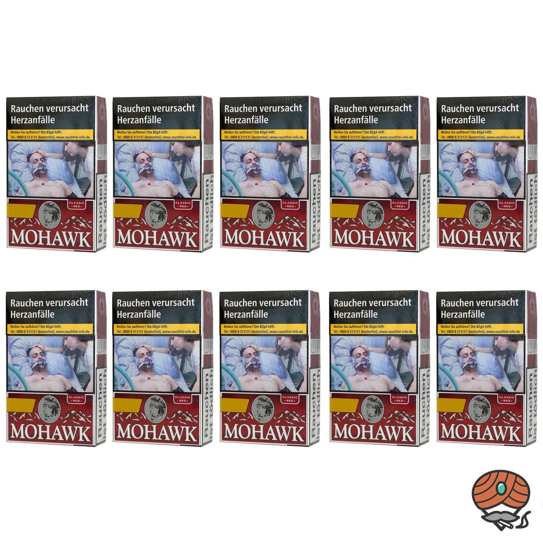 1 Stange Mohawk Classic Red Filterzigaretten OP 10x20 Stück