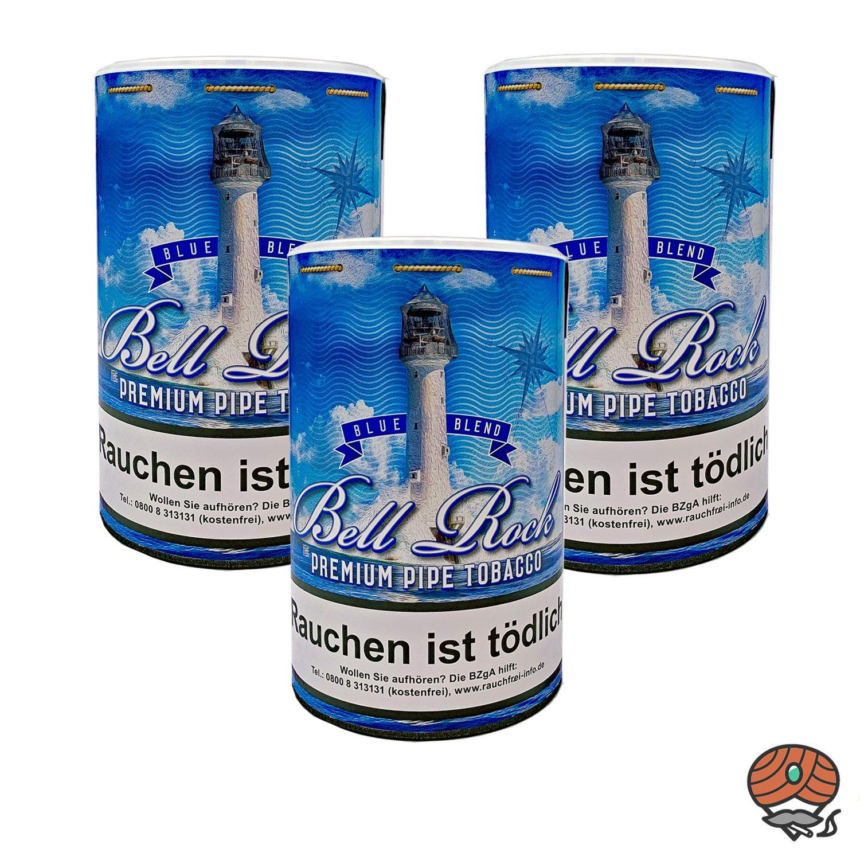3 x Bell Rock Blue Blend Pfeifentabak 160 g Dose
