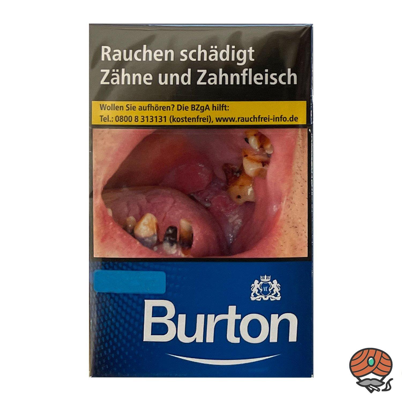 1 Stange Burton Blue / Blau (ehem. White) Zigaretten L Schachtel 10x20 Stück