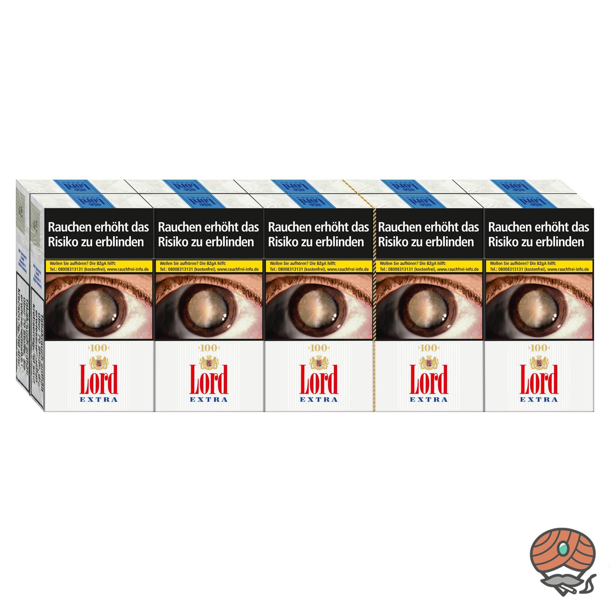 1 Stange Lord Extra Zigaretten L-Box King Size 10x20 Stück