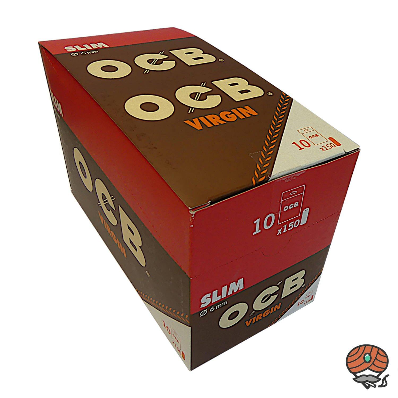 OCB Unbleached Slim Virgin Filter 10x 150 Stück 6mm