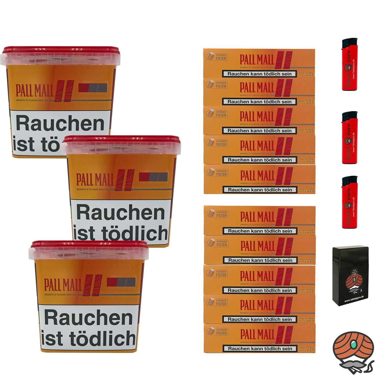 3 x Pall Mall Allround Giga Box à 260g Tabak + 2000 Pall Mall Xtra Hülsen + Zubehör