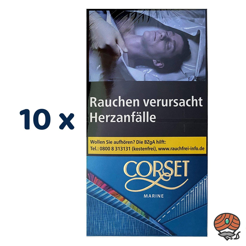 10 x CORSET MARINE 100er Slim Zigaretten à 20 Stück