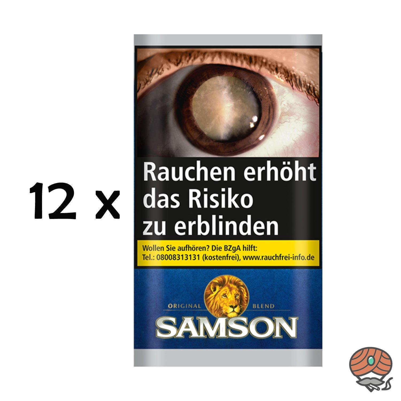 Samson Original Blend Drehtabak 12 x 30g Beutel = 2 Stangen