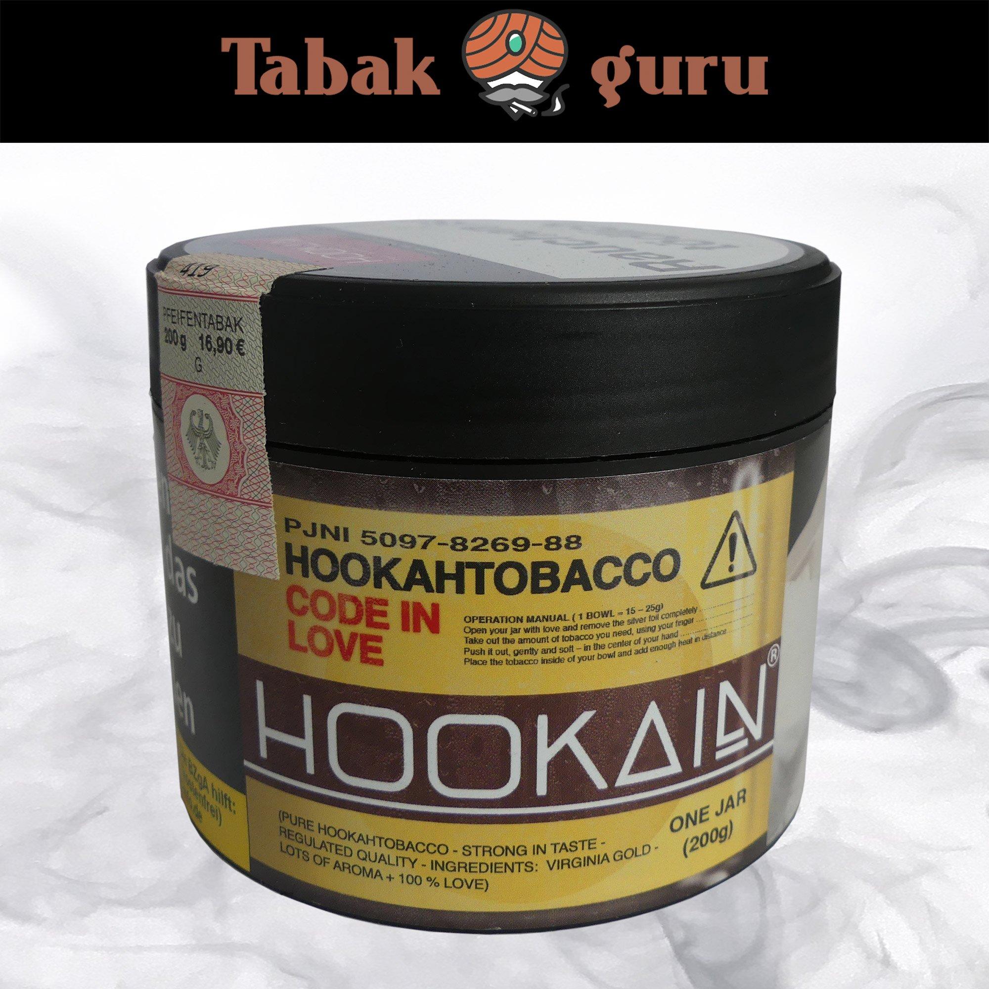 Hookain Code in Love 200g - Shisha Tabak