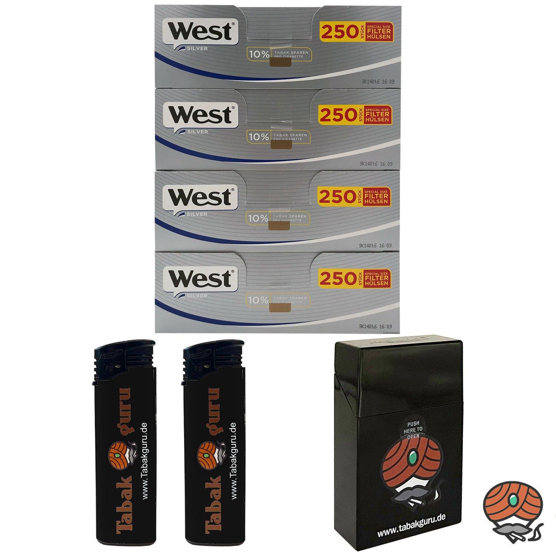 4 Pack West Silber Extra Filterhülsen + Zubehörartikel