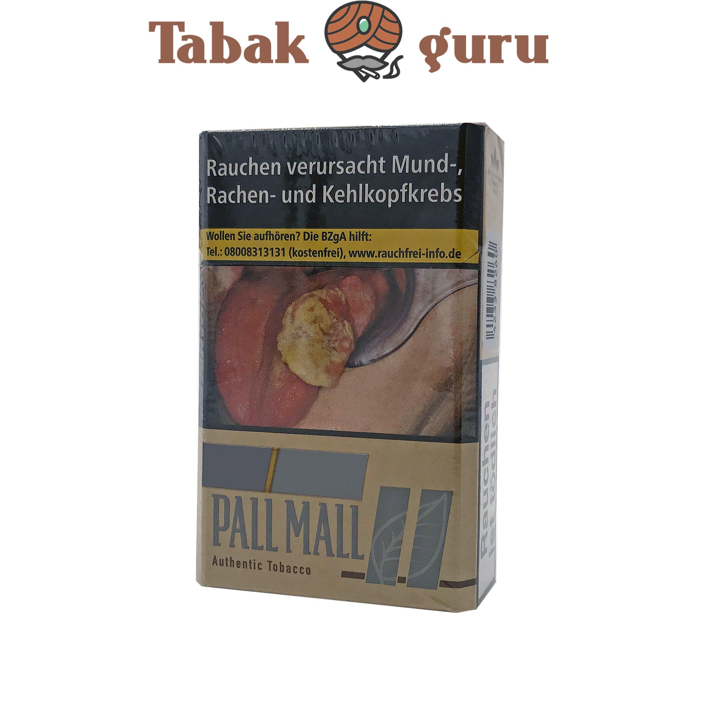 Pall Mall Authentic Silver Zigaretten ohne Zusätze (20 Stück)