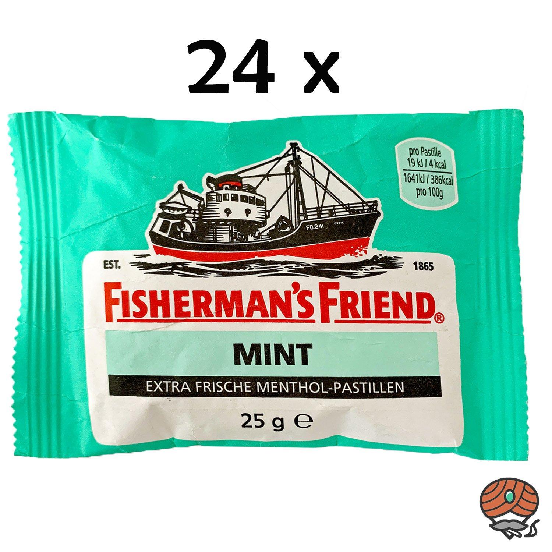 24 x Fisherman`s Friend Menthol-Pastillen Mint