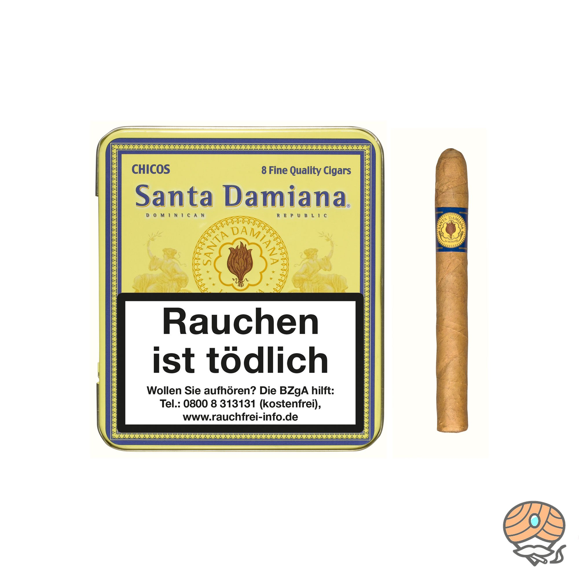 Santa Damiana Chico Zigarren Dominikanische Republik Inhalt 8 Stück