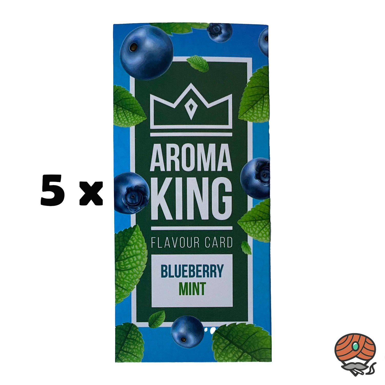 5 x Aromakarte BLUEBERRY MINT von Aroma King - Aroma für Tabak & Zigaretten